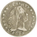 Early Half Dimes: , 1795 H10C XF40 PCGS. V-5, LM-8, R.3. Deep gray-brown toning withlighter silver color on the devices. Slightly wavy on Libe...