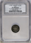 Early Half Dimes: , 1796 H10C --Plugged, Improperly Cleaned--NCS. VG Details. V-1,LM-1, R.3. The LIKERTY variety, but the legend has been remov...