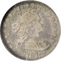 Early Half Dimes: , 1797 H10C 13 Stars Fine 15 NGC. V-1, LM-4, R.6. This is the rarestof four varieties for the year, and it is the only die v...