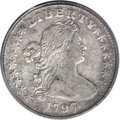 Early Half Dimes: , 1797 H10C 16 Stars VF25 PCGS. V-3, LM-3, R.5. The scarcer of thetwo 16 star variants for this date, and most easily chara...