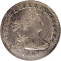 Early Half Dimes: , 1797 H10C 16 Stars AU58 NGC. V-4, LM-2, R.4. This is one of twovarieties with 16 obverse stars. LM-2 has a leaf piercing t...