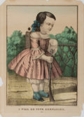 Books:Prints & Leaves, [Hand-Colored Engraving]. I Will Be Your Grenadier. NewYork: Watson and Beckman, [n.d., ca. 1860's]. Approximately ...