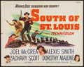 "Movie Posters:Western, South of St. Louis (Warner Brothers, 1949). Half Sheet (22"" X 28""). Western.. ..."