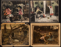 """Through the Back Door & Others Lot (United Artists, 1921). Lobby Cards (2) (11"""" X 14"""") & Trimmed Lobby..."""