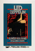 Music Memorabilia:Photos, Led Zeppelin Winterland Concert Poster Limited Edition Print#65/500 (Art Rock, c. 1990s)....