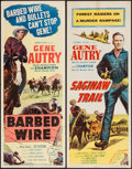 "Movie Posters:Western, Barbed Wire and Other Lot (Columbia, 1952). Inserts (2) (14"" X 36""). Western.. ... (Total: 2 Items)"