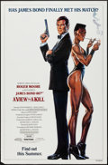 "Movie Posters:James Bond, A View to a Kill (United Artists, 1985). One Sheet (27"" X 41"")Advance, Grace Jones Style. James Bond.. ..."
