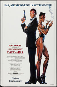 "A View to a Kill (United Artists, 1985). One Sheet (27"" X 41"") Advance, Grace Jones Style. James Bond"