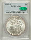 Morgan Dollars: , 1903-O $1 MS66 PCGS. CAC. PCGS Population (590/62). NGC Census:(340/42). Mintage: 4,450,000. Numismedia Wsl. Price for pro...