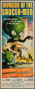 "Movie Posters:Science Fiction, Invasion of the Saucer-Men (American International, 1957). Insert(14"" X 36""). Science Fiction.. ..."