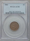 Indian Cents, 1861 1C AU58 PCGS. PCGS Population (88/985). NGC Census: (57/713).Mintage: 10,100,000. Numismedia Wsl. Price for problem f...