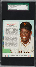 Baseball Cards:Singles (1950-1959), 1954 Red Man Willie Mays #25 SGC 88 NM/MT 8 - Only One Higher. ...