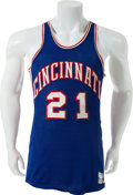 Basketball Collectibles:Uniforms, 1964-66 Jay Arnette Game Worn Cincinnati Royals Jersey....