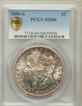 Morgan Dollars: , 1880-S $1 MS66 PCGS Secure. PCGS Population (9595/2013). NGCCensus: (11070/3351). Mintage: 8,900,000. Numismedia Wsl. Pric...