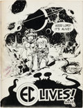 Memorabilia:Comic-Related, EC Lives! Program Book with Autographs and Sketches (E.C. Fan Addict Convention, 1972) Condition: FN....