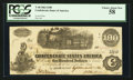 Confederate Notes:1862 Issues, T40 $100 1862 PF4 Cr. UNL.. ...