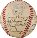 Baseball Collectibles:Balls, 1950 Philadelphia Phillies Team Signed Baseball - The Whiz Kids Sourced From Player....
