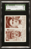 Baseball Cards:Singles (1940-1949), 1941 Double Play Ted Williams/Jim Tabor #57-58 SGC 45 VG+ 3.5. ...