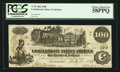 Confederate Notes:1862 Issues, T39 $100 1862 PF-9 State 1 Cr. 291.. ...