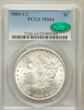 Morgan Dollars: , 1885-CC $1 MS64 PCGS. CAC. PCGS Population (7085/4940). NGC Census:(3281/2603). Mintage: 228,000. Numismedia Wsl. Price fo...