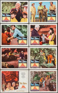 "Movie Posters:Adventure, The Devil at 4 O'Clock (Columbia, 1961). Lobby Card Set of 8 (11"" X14""). Adventure.. ... (Total: 8 Items)"