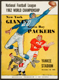 Football Collectibles:Programs, 1962 NFL Championship Game Program - Packers Vs. Giants....