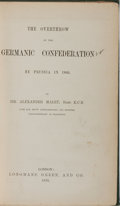Books:World History, Alexander Malet. The Overthrow of the Germanic Confederation by Prussia in 1866. Longmans, Green, 1870. Custom moder...
