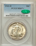 Walking Liberty Half Dollars, 1943-D 50C MS67+ PCGS. CAC....
