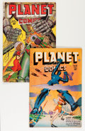 Golden Age (1938-1955):Science Fiction, Planet Comics #48 and 64 Group (Fiction House, 1947-50).... (Total:2 Comic Books)