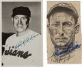 Baseball Collectibles:Others, Red Kress and Sam Rice Signed Images Lot of 2....