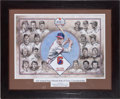 Baseball Collectibles:Others, Stan Musial Hall of Fame Championship Multi Signed Lithograph....