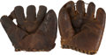 Baseball Collectibles:Others, 1922 Dazzy Vance Store Model Glove & Rube Marquard Signed StoreModel Glove. ...