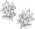 Estate Jewelry:Earrings, Diamond, Platinum, White Gold Earrings, Van Cleef & Arpels. ...