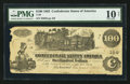 Confederate Notes:1862 Issues, T39 $100 1862 PF-16 State 1 Cr. 296.. ...