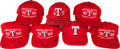 Baseball Collectibles:Hats, Texas Rangers Stars Signed Caps Lot of 7. ...