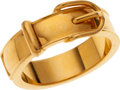 Luxury Accessories:Accessories, Hermes Gold Belt Scarf Ring. ...