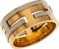 Luxury Accessories:Accessories, Hermes Gold & White Enamel My Move H Ring. ...