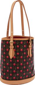 Luxury Accessories:Bags, Louis Vuitton Monogram Cerises Canvas Bucket Bag. ...