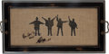 Music Memorabilia:Autographs and Signed Items, Beatles Paul McCartney and Ringo Starr Signed Help! ServingTray. ...
