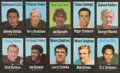 Football Cards:Sets, 1972 NFLPA Football Fabric Cards Complete Set (35). ...