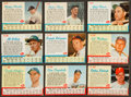 Baseball Cards:Sets, 1962 Post Cereal Baseball Partial Set (105/200) With Mantle and Maris. ...