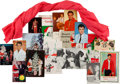 Music Memorabilia:Costumes, Elvis Presley Owned Scarf and Fan Club Postcards (1960s-70s). ...(Total: 18 Items)