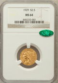 Indian Quarter Eagles: , 1929 $2 1/2 MS64 NGC. CAC. NGC Census: (2713/223). PCGS Population(1543/124). Mintage: 532,000. Numismedia Wsl. Price for ...