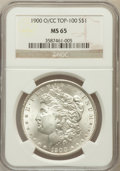 Morgan Dollars, 1900-O/CC $1 MS65 NGC. VAM-8B....