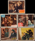 "Movie Posters:Mystery, Charlie Chan Lot and other Lot (Monogram, 1944-1949). Lobby Cards(5) (11"" X 14"") and One Sheet (27"" X 41""). Mystery.. ... (Total: 6Items)"