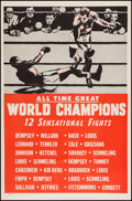 """Movie Posters:Sports, All Time Great World Champions (Late 1940s). Boxing One Sheet (27""""X 41""""). Sports.. ..."""