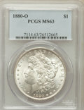 Morgan Dollars: , 1880-O $1 MS63 PCGS. PCGS Population (2232/1231). NGC Census:(1869/1032). Mintage: 5,305,000. Numismedia Wsl. Price for pr...