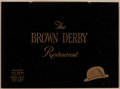 Movie/TV Memorabilia:Documents, A Large Collection of Menus from The Brown Derby Restaurant, 1940s-1970s....