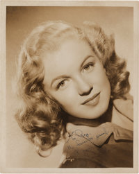 A Marilyn Monroe Early Signed Black and White Photograph, Circa 1946