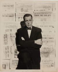 A Humphrey Bogart Signed Black and White Photograph, Circa 1950s